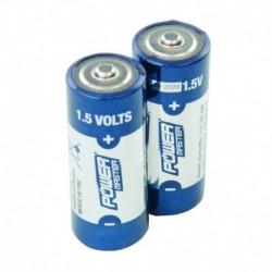 Lot de 2 piles alcalines 1,5 V Super LR1