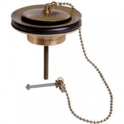Bonde laiton pour évier grès, Ø 60 mm, vieux bronze