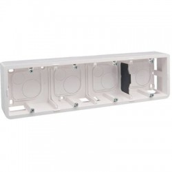 Cadre horizontal saillie mosaic pour 10 ou 4 x 2 modules Legrand