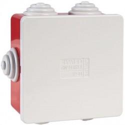 Boîte carrée de dérivation avec passe-fils - rouge - IP44 Gewiss
