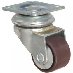 Roulette ameublement pivotante à platine Miniforte Point M / M.P.R