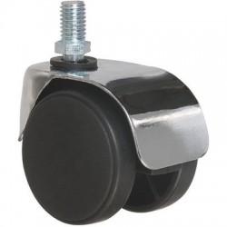 Roulette jumelée ameublement à tige filetée série S49 ZT Caujolle