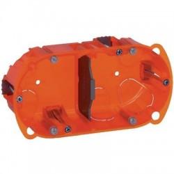 Boîte d'encastrement Batibox multimatériaux 2 postes Legrand