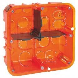 Boîte d'encastrement Batibox multimatériaux 2 x 2 postes Legrand