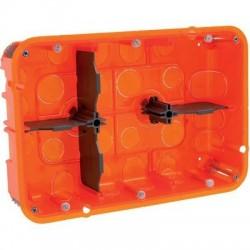 Boîte d'encastrement Batibox multimatériaux 2 x 3 postes Legrand