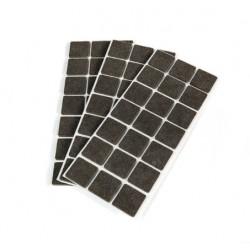 Patins adhésifs carrés en feutre 30x30mm