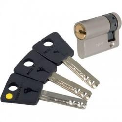 Demi-cylindre 7 x 7 Varié Nickelé Mul-T-Lock