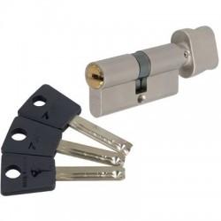 Cylindre à bouton 7 x 7 Varié Nickelé Mul-T-Lock