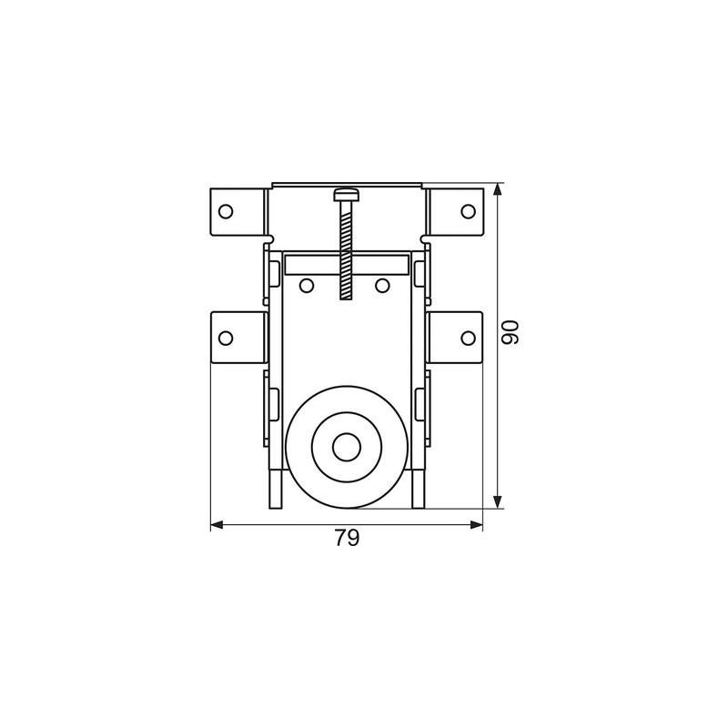 kit de galets pour porte coulissante. Black Bedroom Furniture Sets. Home Design Ideas