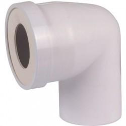 Pipe courte mâle Ø 100 mm à 90°