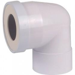 Pipe courte femelle Ø 100 mm à 90°