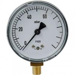 Manomètre gaz radial 0 à 60 mbar Clesse