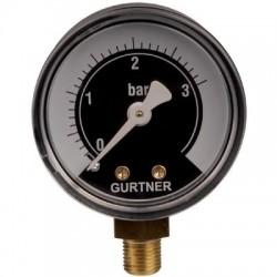 Manomètre gaz radial 0 à 3 bar Gurtner