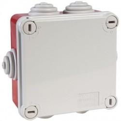 Boîte carrée de dérivation avec passe-fils - rouge - IP55 Gewiss