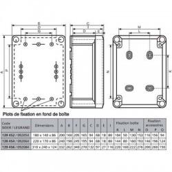 Boîte rectangulaire pour presse-étoupe Plexo Legrand
