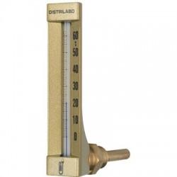 Thermomètre coudé boîtier aluminium pour plancher chauffant