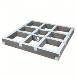 Kit rehausse carré pour écoulement centré Wedi