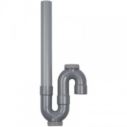 Siphon plastique m.a.l. sortie verticale