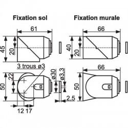 Butée magnétique composite Monin & Cie