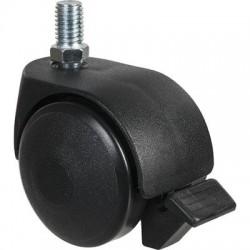 Roulette jumelée ameublement à tige filetée à frein série S49 TAF Point M / M.P.R