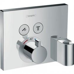 Set de finition pour mitigeur thermostatique ShowerSelect E encastré, fixfit et porter intégrés Hansgrohe