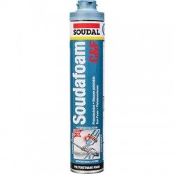 Mousse PU pistolable, soudafoam CLICK & FIX Soudal