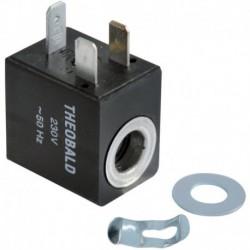 Bobine d'électrovanne gaz avec clips pour bloc BF885 Réf. F3AA40136 FRISQUET