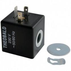 Bobine d'électrovanne gaz avec clips EV pour bloc TK25 Réf. F3AA40159 FRISQUET