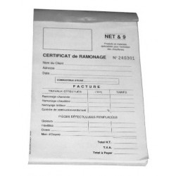 Carnet de ramonage 50 feuilles Réf. 6099 PROGALVA