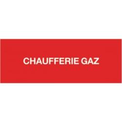 Etiquette chaufferie gaz 200x100mm Réf 215289 SELF CLIMAT