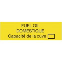 Plaque Capacité fioul domestique Réf 308095 SELF CLIMAT