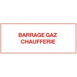 Barrage chaufferie gaz Réf 215298 SELF CLIMAT