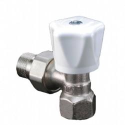Corps de robinet équerre diamètre 10 12x17 avec poignée manuelle blanche Réf 1191503 OVENTROP