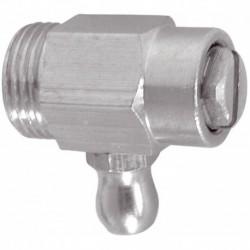 Robinet de vidange de radiateur nickelé avec joint torique 12x17 RV12 THERMADOR