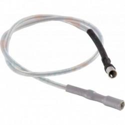 Cable d'allumage avec cosses Ø4x4 longueur 365mm En téflon blanc Pour brûleur DX4-C4/4R/6/8. Réf. 13018129 CUENOD