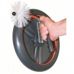 Kit de nettoyage Flexonet 15 mètres diamètre du jonc 4,5mm + 3 hérissons PVC (diamètre 80,111 et 125mm) Réf 2091 PROGALVA