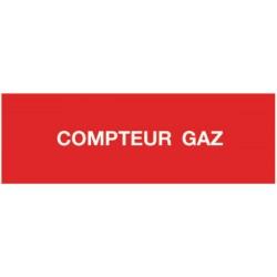 Etiquette compteur gaz 200x100x0,030mm Réf 215455 SELF CLIMAT