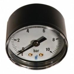 Manomètre type 116 diamètre 40mm 0 à 10 bars boitier ABS classe 2.5 sec raccord arrière 5x10 Réf 1161RA14D DISTRILABO