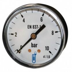 Manomètre type 116 diamètre 63mm 0 à 10 bars boitier ABS classe 1.6 sec raccord arrière 8x13 Réf 1163RA14D DISTRILABO