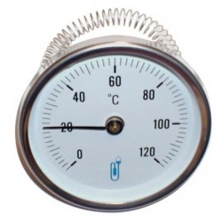 Thermomètre applique A45 diamètre 63mm 26x34/50x60 0-120°C Réf 74503D DISTRILABO