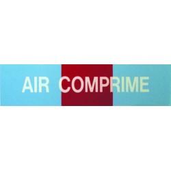 Etiquette air comprimé 100x30x10mm paquet de 5 pièces Réf 215619 SELF CLIMAT