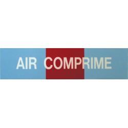 Etiquette air comprimé 200x50x10mm paquet de 5 pièces Réf 215519 SELF CLIMAT