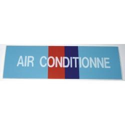 Etiquette air conditionné 100x30x10mm paquet de 5 pièces Réf 215620 SELF CLIMAT