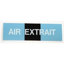 Etiquette air extrait 100x30x10mm paquet de 5 pièces Réf 215621 SELF CLIMAT