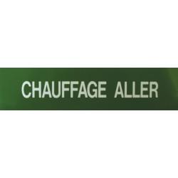 Etiquette chauffage aller 200x50x10mm paquet de 5 pièces Réf 215556 SELF CLIMAT