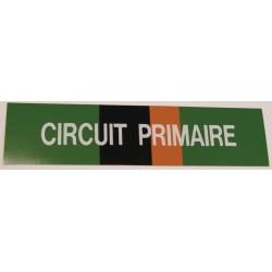 Etiqu circuit primaire 200x50x10mm Réf 215507 SELF CLIMAT