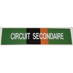 Etiquette circuit secondaire 200x50x10mm Réf 215508 SELF CLIMAT