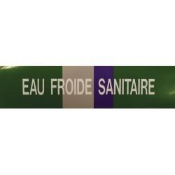 Etiquette eau froide sanitaire 100x30x10mm paquet de 5 pièces Réf 215671 SELF CLIMAT