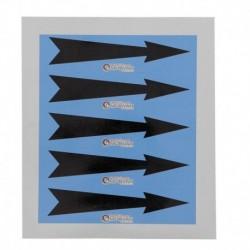 Etiquette flèche bleue 100x30x10mm paquet de 5 pièces Réf 215648 SELF CLIMAT