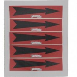 Etiquette flèche rouge 100x30x10mm paquet de 5 pièces Réf 215649 SELF CLIMAT